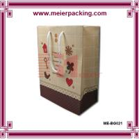 China Personalized paper gift bag/Printed kraft presentation bag for sale ME-BG021 wholesale
