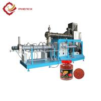 China automatic floating fish feed  twin screw extruder making machine production line on sale