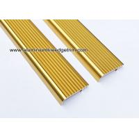 China Embedding Aluminum Stair Edge / Edging  With  Shiny Golden 45mm x 15mm wholesale