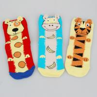 China Customized Colorful Sports Socks , Kids Novelty Socks With Cute Tiger / Dog Cartoon Animal Patterns on sale
