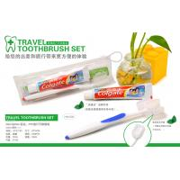 China TRAVEL TOOTHBRUSH + TOOTHPASTE SET IN SOFT PVC POUCH wholesale
