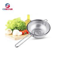 China Kitchen Strainer Colander Basket - Fine Mesh Net Quality Stainless Steel Kitchen Sieve Strainer, Draining, Salad and Noo on sale