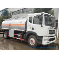 Buy cheap 12m3 Stainless Steel Tanker Trailers , Small Fuel Tanker Truck 80 Km/H Max Speed from wholesalers