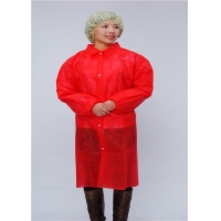 China Red Shirt Collar 106cm Microporous Disposable Protective Gown wholesale