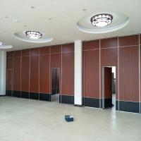 China Removable Wooden Folding Acoustic Partition Walls Sliding Operable Partitions For Conference Hall wholesale