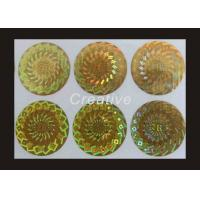 China Eco Friendly TamperEvident Company Logo Printing Hologram Stickers wholesale