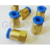 Straight quick brass hose connector 8mm 1/2 PT pneumatic female threaded union fitting PCF 8-04 air pipe joint