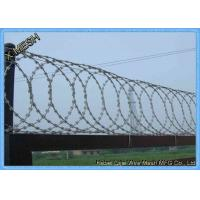China Heavy Galvanised Concertina Razor Wire Barbed Tape Security Fencing on sale