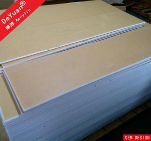 China 1.22*2.44 White Acrylic Sheet  Virgin Weather Abrasion Resistance on sale
