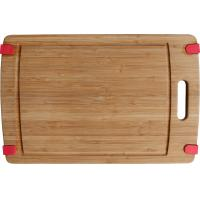 China 2016 Non Skid Tabs and Juice Groove Bamboo Bread Chopping Board with Handle wholesale