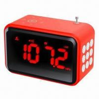 China FM Radio Alarm Clock with MP3 Player, Connects with Mobile and Computer wholesale