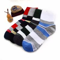 China Wholesale OEM striped cotton leisure socks for men wholesale