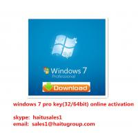 China Windows 7 Professional OEM / FPP Key For Windows 7 Product Key Codes Activated Verified Online on sale