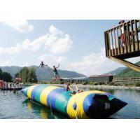 China Floating Inflatable Water Trampolines , Lake Inflatable Water Blob wholesale