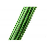 China Colorful PET Zip Up Cable Tidy , Expandable Cable Tidy Sleeve Fire Resistant wholesale