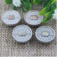 China 2018 Explosion models spiral high-grade anti brass color alloy 17 mm jeans buttons for apparel accessories wholesale
