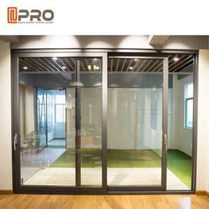 China Durable Aluminium Sliding Glass Doors Anodized Surface Finishing Sliver Color wholesale