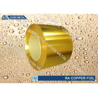 Buy cheap High Phosphorus Content Yellow ID 75mm Brass Foil Fatigue Resistance from wholesalers