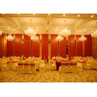 China Red Sliding Folding Partitions Movable Walls For Exhibition Place wholesale