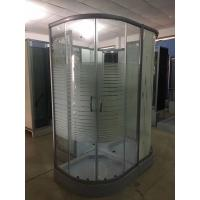 China Horizontal Stripe 5m Door Thickness Tempered Glass Corner Shower Cabin 90 x 90 x 200 / Cm wholesale