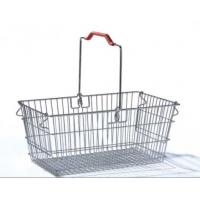 China Single Handle Stainless Steel Shopping Baskets Rust Preventing Custom on sale