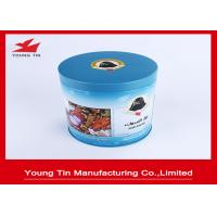 China Cylinder Round Full Color Printed Metal Tin Container Box For Coffee Packaging on sale