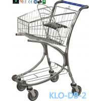 China Chrome Plated Low Carbon Steel Airport Luggage Trolley Cart With Baby Seat 40L wholesale