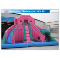China Custom Pink Double Inflatable Water Slides For Toddlers Plays With Pool wholesale