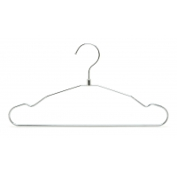 China Space Saving Light Weight Coat&Suite Compact Chrome Wire Hangers wholesale