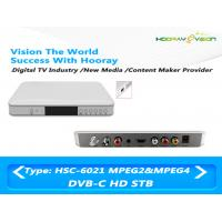 Cardless HD MPEG-4 DVB C  Set Top Box With Hisilicon Chipset support PVR Manufactures