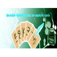 China Safety Poker Magic Luminous Playing Cards Invisible Ink With Pen For Marked Cards wholesale
