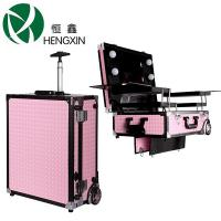 China Cosmetic Makeup Artist Carry Case With Light / Lighted Makeup Mirrors For Makeup Beauty Stations wholesale