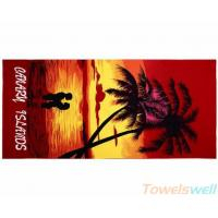 Printed Bath Towel Lint Free Ultra Soft  Drying fast Super Absorbent Manufactures