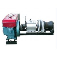 Cable Winch Puller 5 Ton Variable Speed Diesel Power Winch for Tower Erection Manufactures