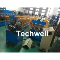 China Roof Ridge Cap Roll Forming Machine With Single Chain Transmission , 15 Stands of Forming Stations on sale