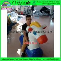 China Edurable 1.5m Long Inflatable My Little Pony Yellow 0.18mm Pony Chair For  Playground Equipment wholesale