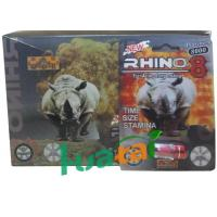 China Rhino 8 8000 3D Herbal Sex Pills for Men Erection , Male Enhancement Product on sale