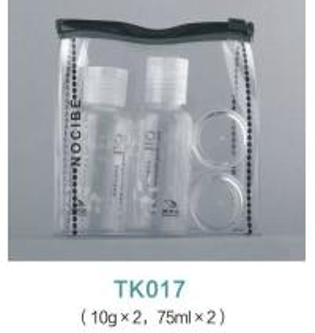 China Empty PET 4 pack cosmetics travel bottle set wholesale