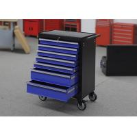 China Blue Heavy Duty 7 Drawers Garage Storage Tool Cabinets On Wheels Lockable wholesale