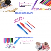 China 2 Vibrant Color Stainless Tip Air Erasable Pen wholesale