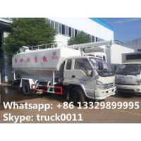 China smallest forland LHD 8cbm fish feed delivery trucks for sale, best price forland poultry animal feed delivery truck on sale