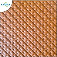 China Waterproof Leather Upholstery Fabric , Black Quilted Vinyl Fabric Artificial Synthetic wholesale