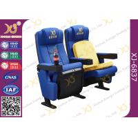 China Cup Holders Multiple Children Seat Options Available Movie Theater Chairs With Blue wholesale