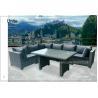China Luxury Rattan Wicker Patio Furniture Deep Seating Set With Aluminium Frame wholesale