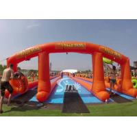 China 1000 ft commercial use outdoor double lane inflatable water slide N slip on sale for water parties fun wholesale