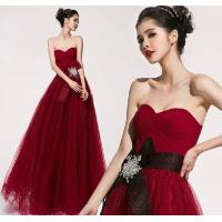 China Custom Chiffon Sexy Sweetheart neckline party dresses for Prom , Red on sale