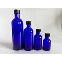 China Blue Glass Makeup Bottles , Foundation Empty Cosmetic Packaging Bottles wholesale