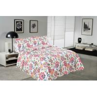 China Cockscomb Flower Double Bed Quilt Covers , Microfiber Fabric Quilt Cover Sets wholesale