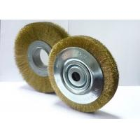China Heavy Duty Brass Wire Brush Wheel / Steel Wheel Brush For Cleaning Rust wholesale