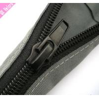 China Black PET Zipper Cable Sleeve Braided Wrap Expandable For Cable Management wholesale